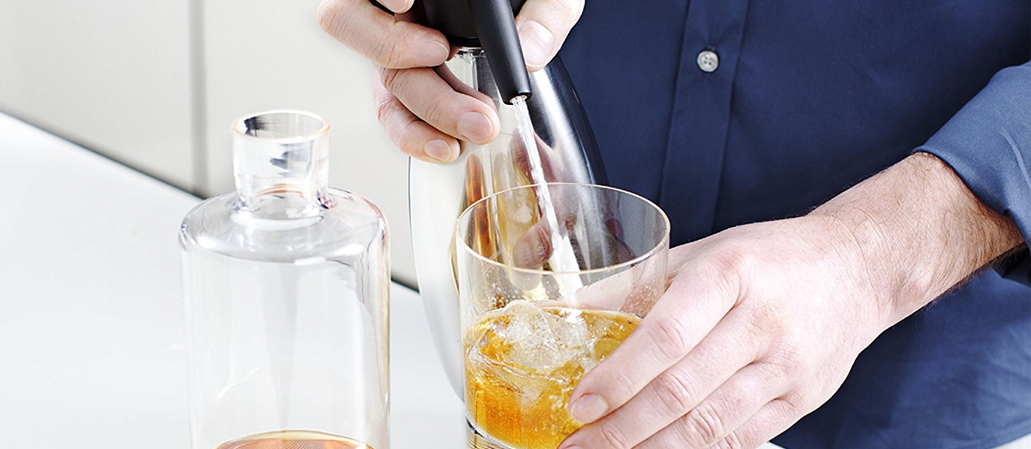 White Beverage Water Black Brand New Perfect Soda Maker Starter Kit Red