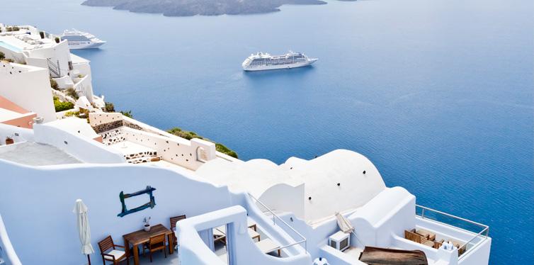 Katikies Hotel, Oia, Santorini, Greece.