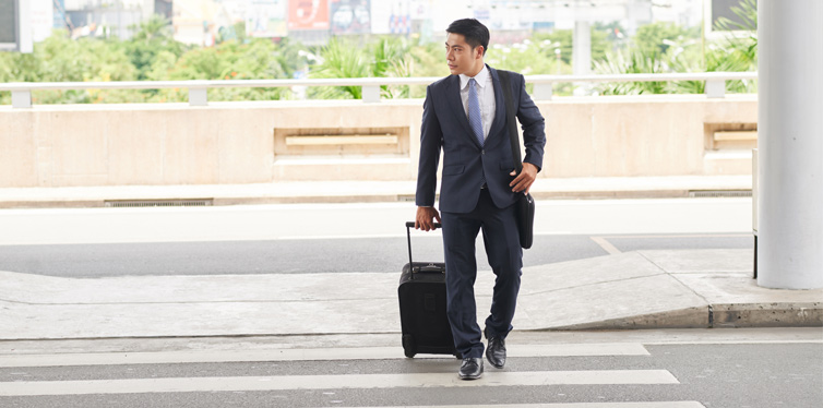 businessman with a suitcase