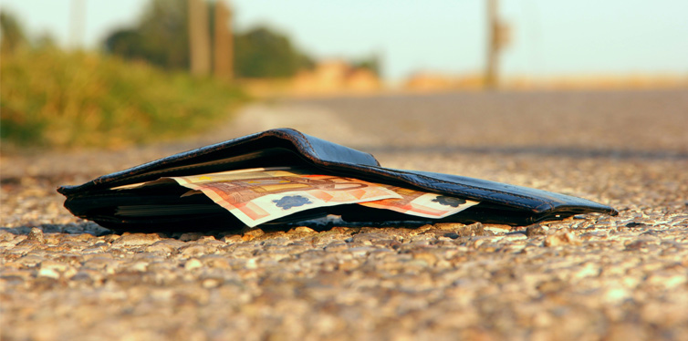 lost wallet in the street