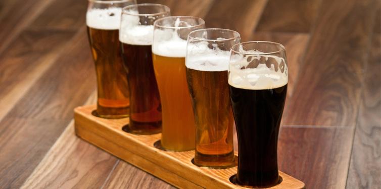 a few glasses of beer