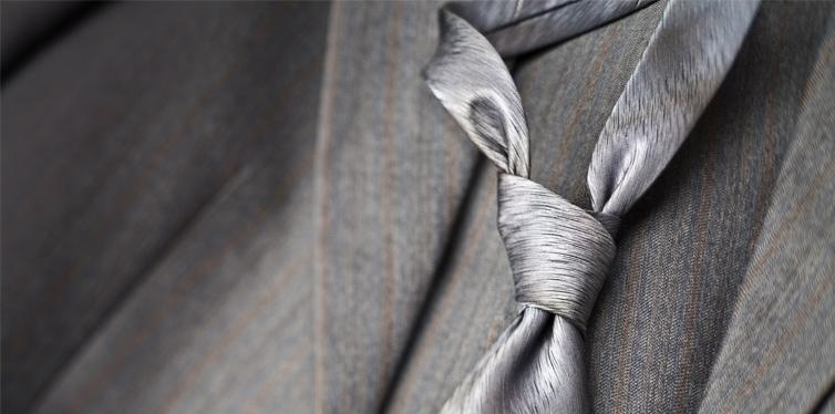 a grey tie