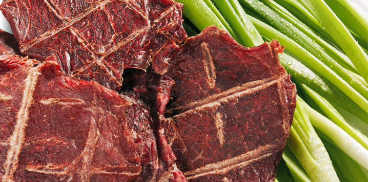 beef jerky and vegetable