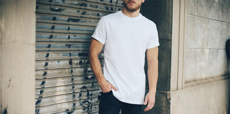 man wearing a t shirt