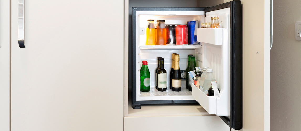 auto defrost mini fridge