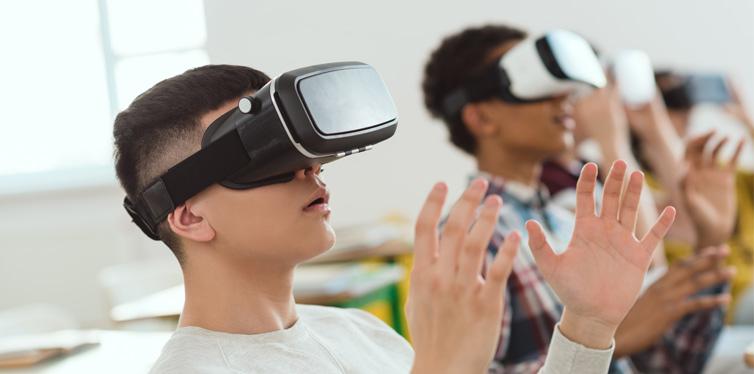 boys using VR headset