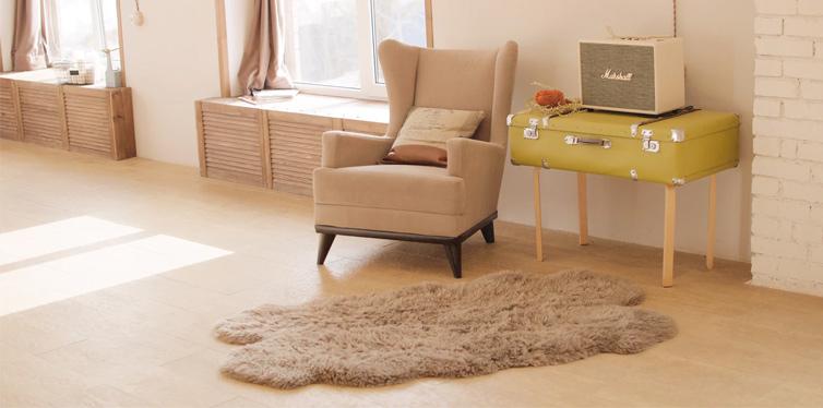 soft carpet near the chair