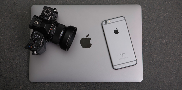 iphone, camera, laptop
