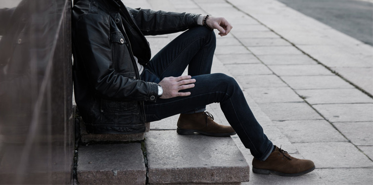 man wearing boots
