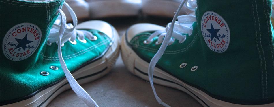 green converse keds