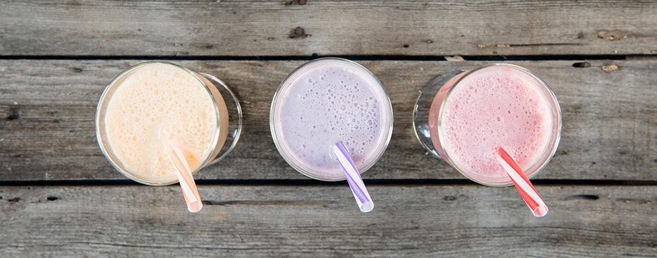 summer milk shakes
