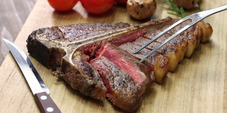 the t – bone steak