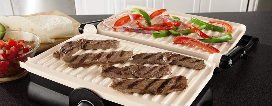 grilled meat on panini press