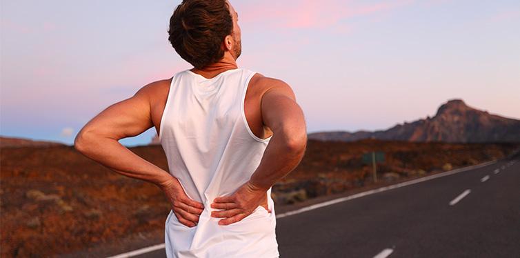 running man with injury