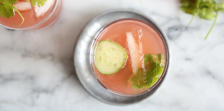 cucumber and watermelon kombucha blast