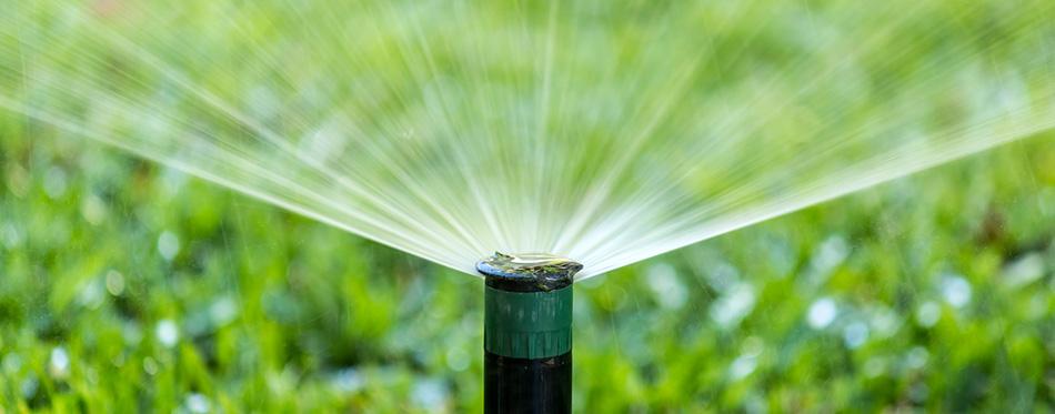 garden Irrigation system spray watering lawn