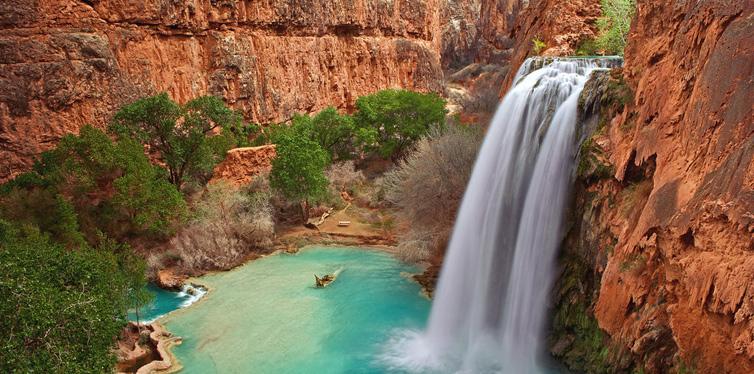 havasu falls in the grand canyon, arizona