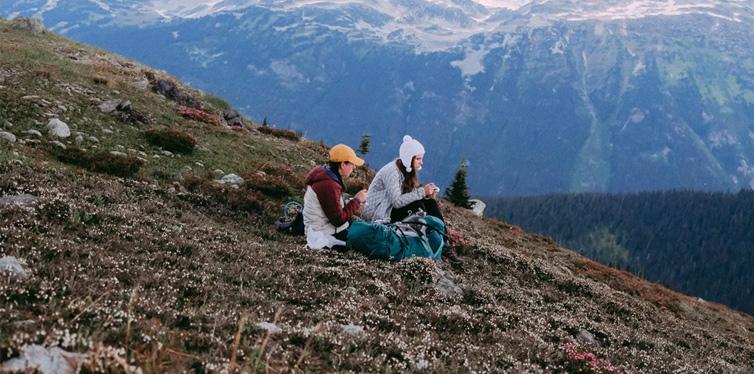 hikers on a break