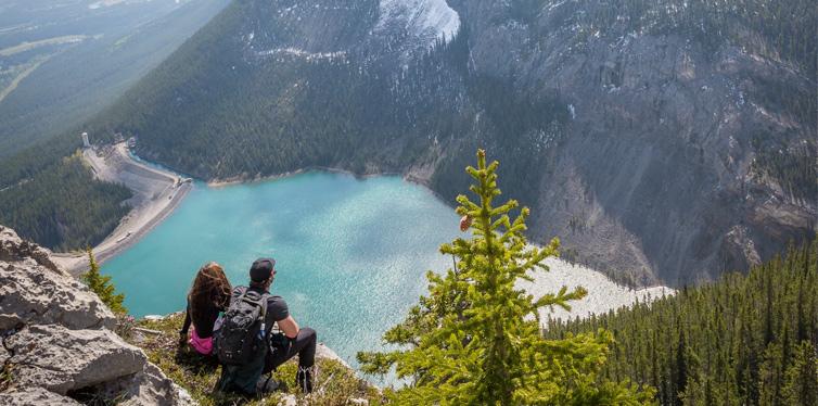 hikers on a lunch break