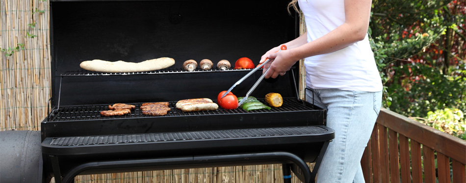 pellet grills outdoors