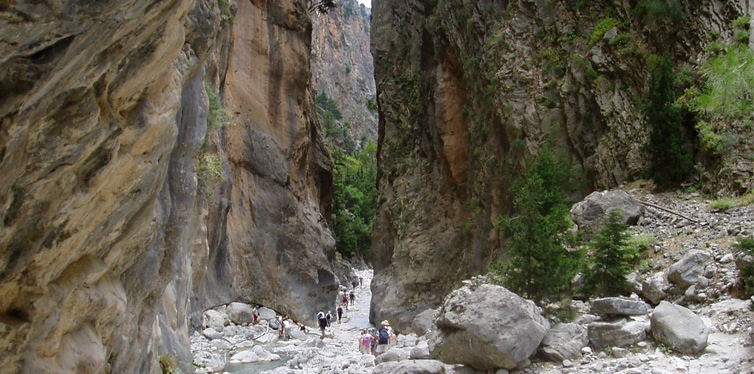 samaria gorge crete greece