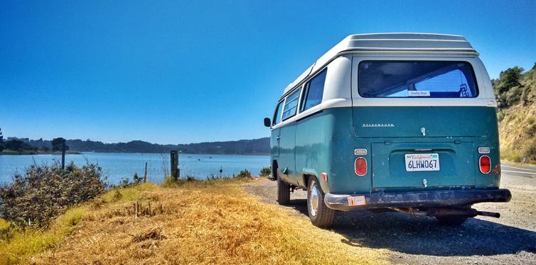 blue campvan