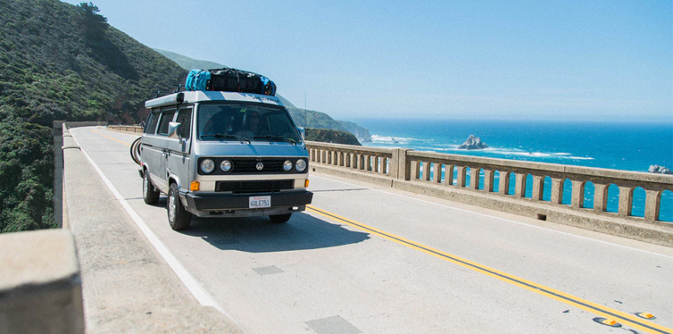 campvan on the bridge