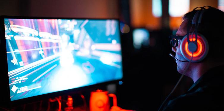 gamer playing