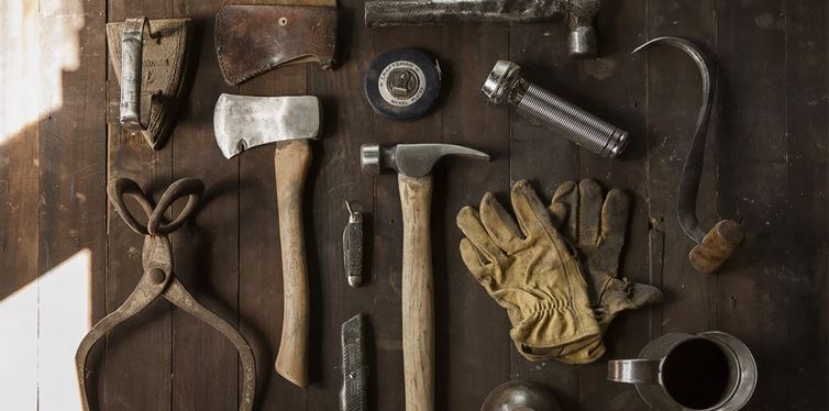 hand tools on the table