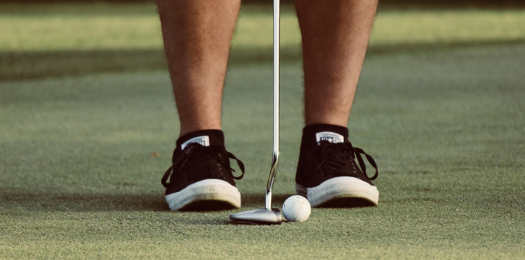 golfer on the court