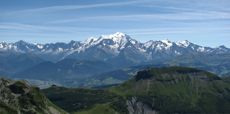 mont blanc massif, western alps