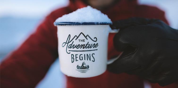 mug with snow