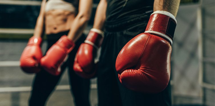 boxers in gloves