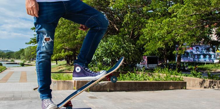 skater in jeans