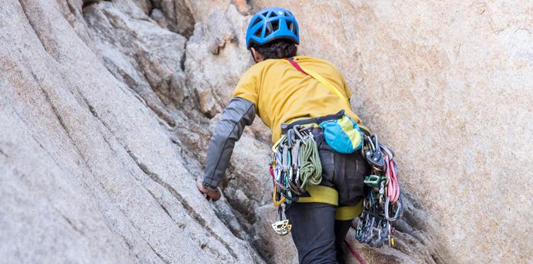 a rock climber