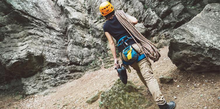 a mountain climber