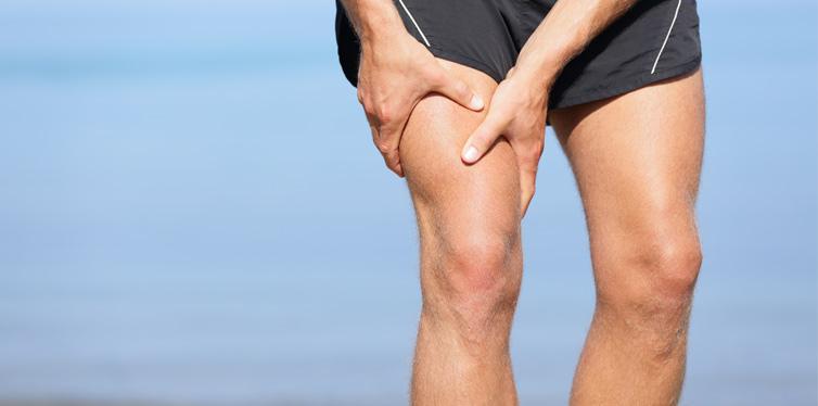 an athlete having leg pain