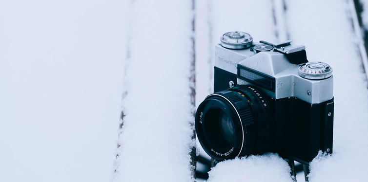 camera in the snow