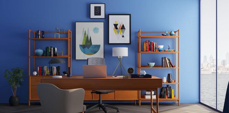desk near window