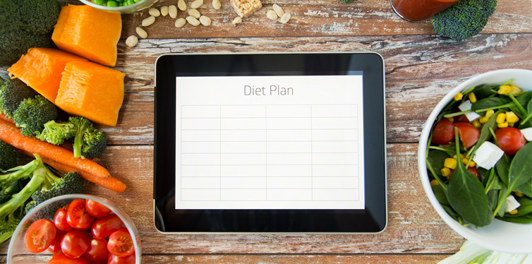 diet plan on a tablet