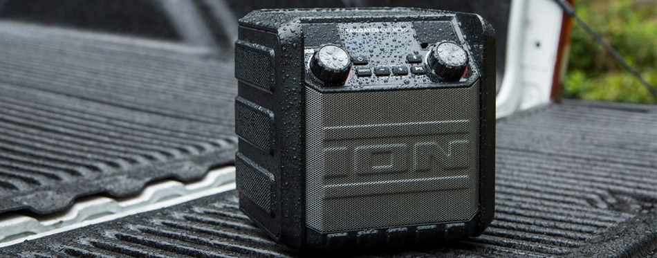 a tailgate speaker for outdoor