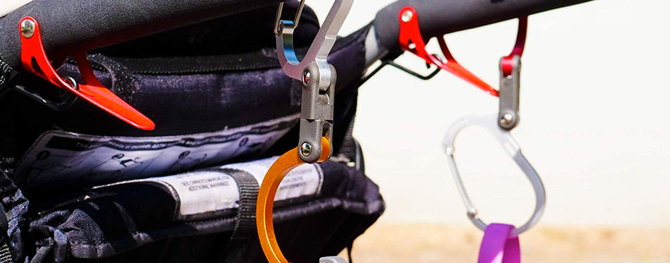 using a carabiner clip