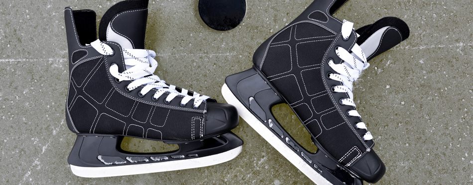 a pair of ice hockey skates