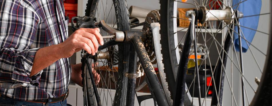 bike on a repair rack