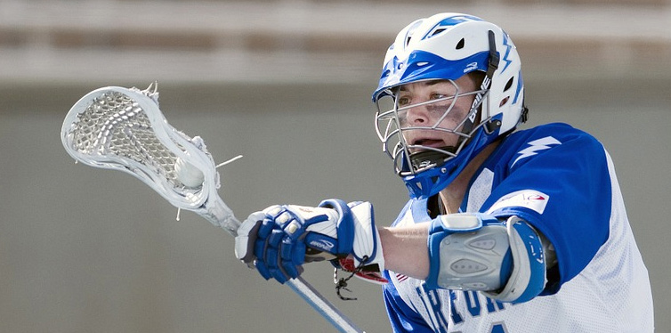lacrosse player during a game