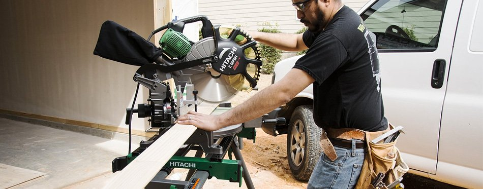 using a miter saw stand