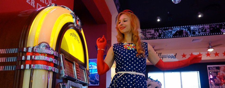 a girl dancing by the jukebox