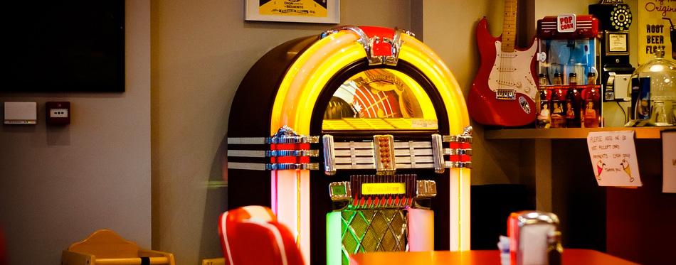 a retro jukebox