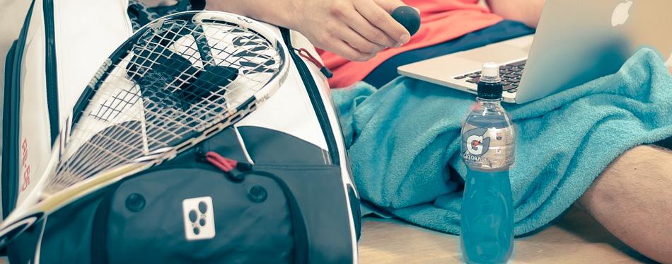 a squash racquet