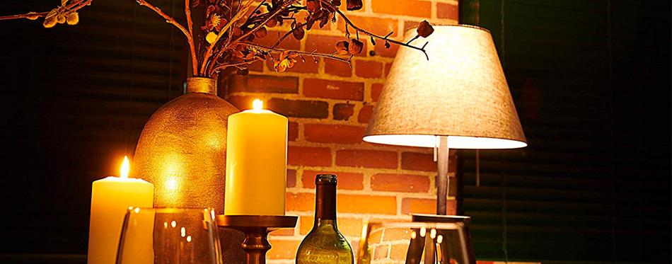 a smart light bulb in a lamp
